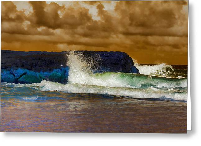 Incoming Tide Greeting Card by Douglas Barnard