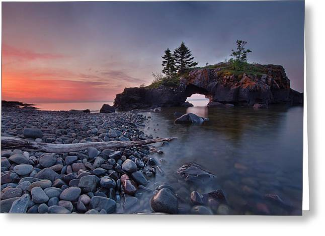 Hollow Rocks, North Shore Mn Greeting Card by RC Pics