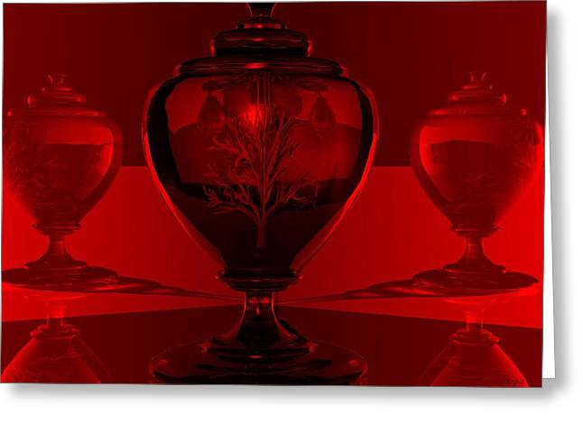 Greeting Card featuring the digital art Incubation by John Pangia