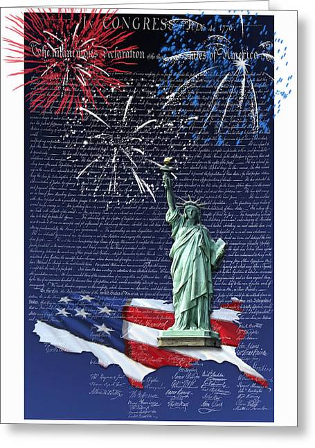 Independence Day Greeting Card by Kathleen Holley