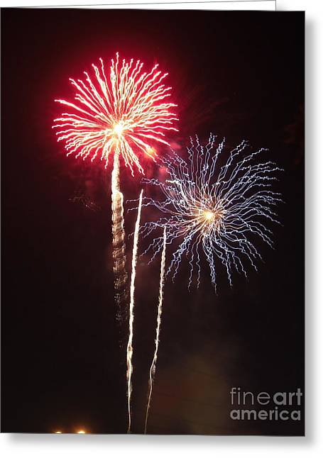 Independence Day Sparklers Greeting Card by Deborah Smolinske