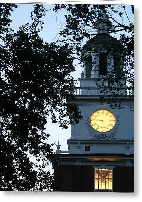Independence Hall At Dusk Greeting Card