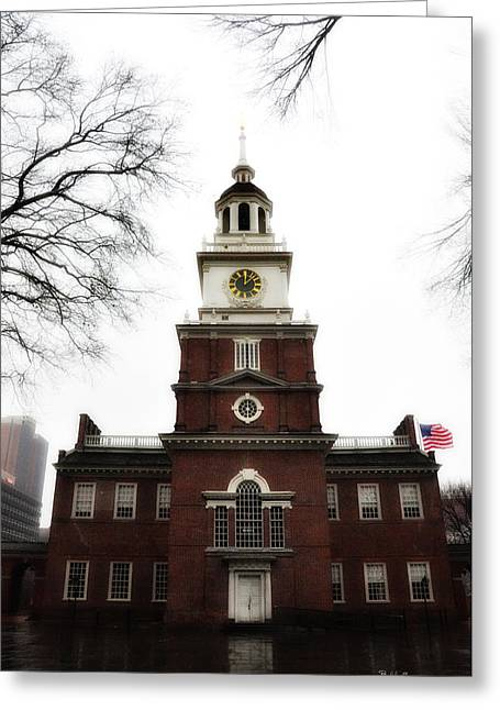 Independence Hall Philadelphia Greeting Card by Bill Cannon