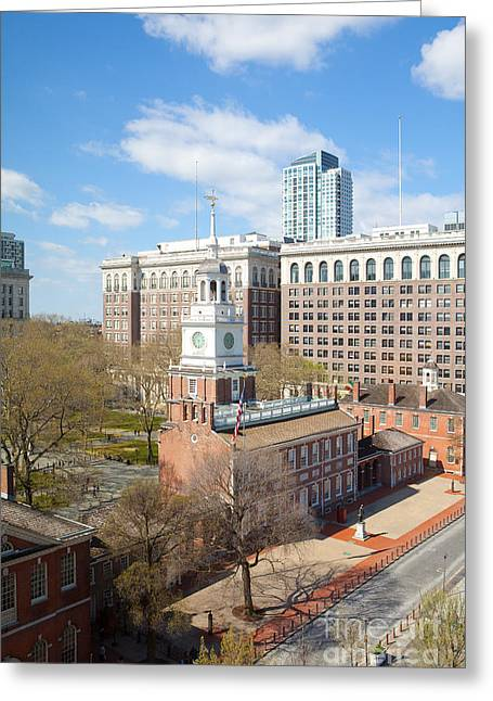 Independence Hall Philadelphia Greeting Card by Kay Pickens