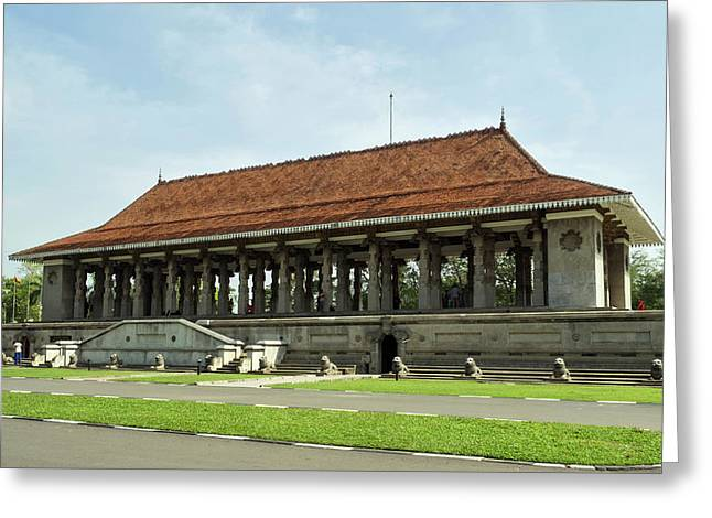 Independence Memorial Hall, Cinnamon Greeting Card by Panoramic Images