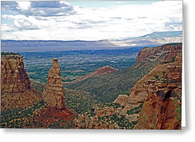 Independence Monument In Colorado National Monument Near Grand Junction-colorado Greeting Card