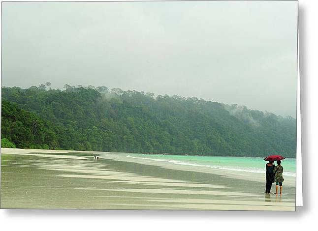 India, Andaman Islands, Havelock Greeting Card by Anthony Asael