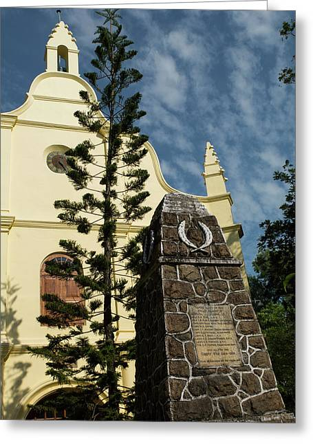 India, Cochin St Francis Csi Church Greeting Card by Cindy Miller Hopkins