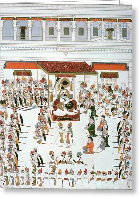 India Durbar Festival Greeting Card by Granger