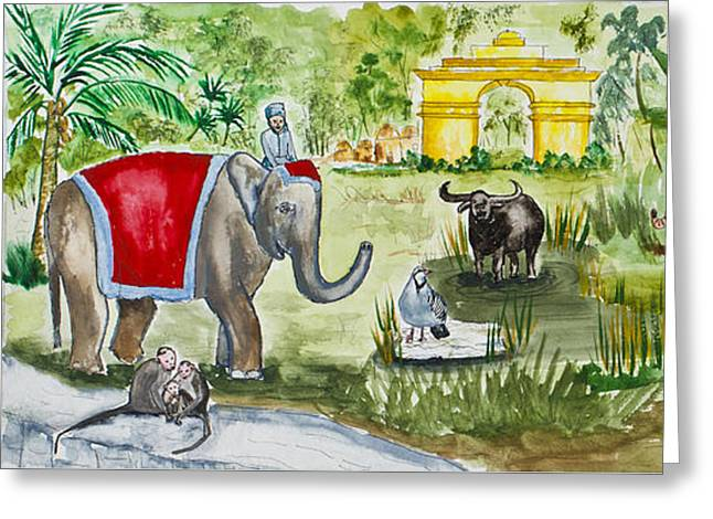 India Friends Greeting Card