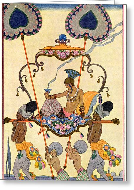 India Greeting Card by Georges Barbier
