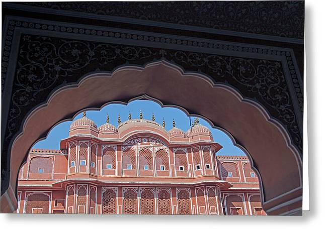 India, Jaipur Chandra Mahal At Jaipur Greeting Card