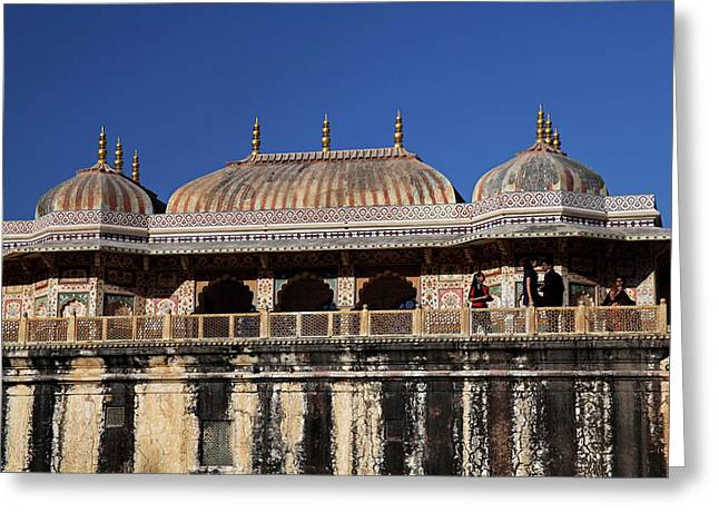 India Jaipur Jaipur City Palace Greeting Card