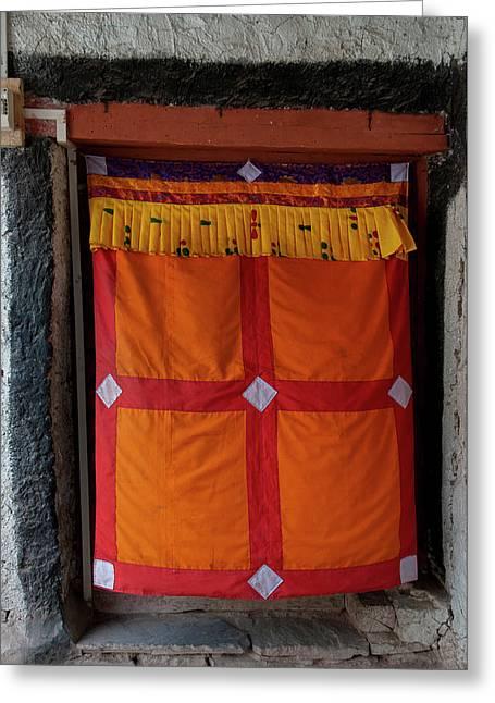 India, Jammu & Kashmir, Ladakh, Doorway Greeting Card