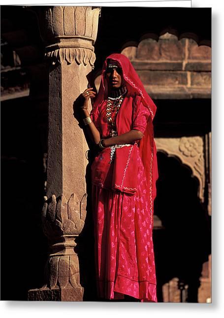 India, Jodpur, Rajasthan, Gardens Greeting Card