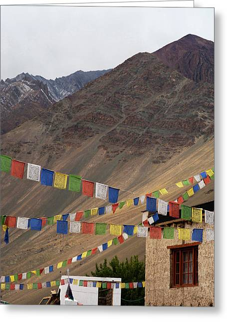 India, Ladakh, Alchi, Colorful Buddhist Greeting Card by Anthony Asael
