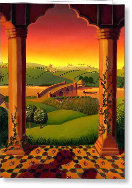 India Landscape Greeting Card