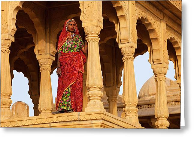 India, Rajasthan, Jaiselmer Greeting Card