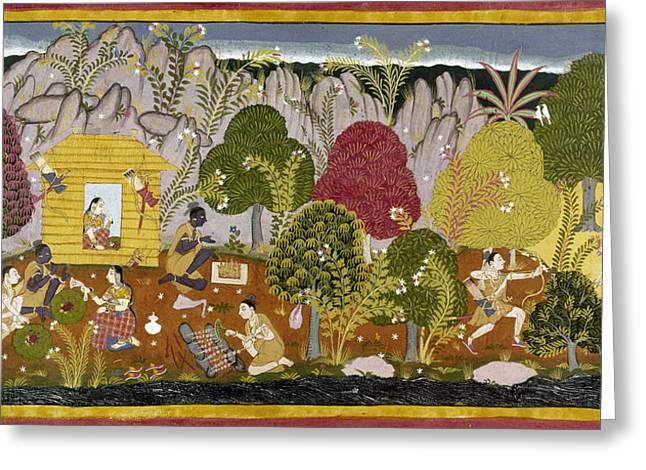 India Ramayana, C1650 Greeting Card by Granger