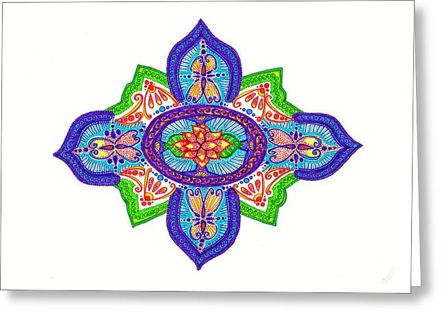 India Silk Greeting Card by Marie Parker