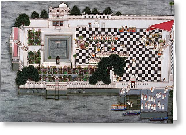 India Udaipur Banquet Greeting Card by Granger