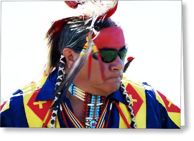 Indian Brave Greeting Card by Jim Naumann