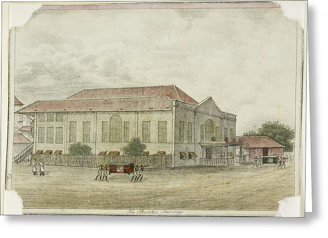 Indian Building In The Deccan Greeting Card by British Library