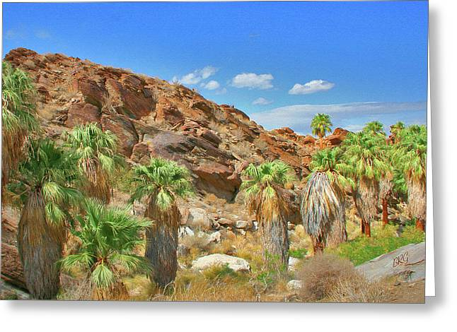 Indian Canyons View In Palm Springs Greeting Card by Ben and Raisa Gertsberg