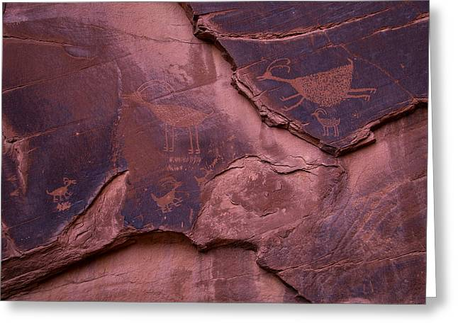 Indian Cave Art Greeting Card