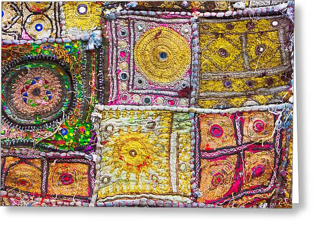 Indian Cloth Greeting Card by Tom Gowanlock