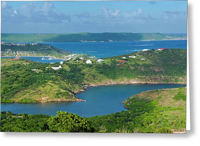 Indian Creek Point, Antigua, West Greeting Card by Nico Tondini