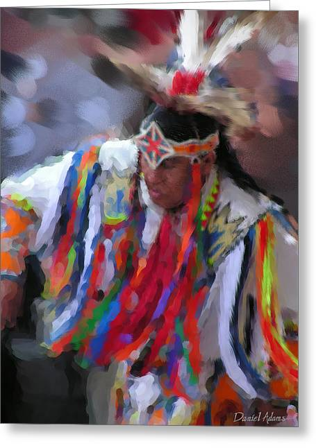 Da121 Indian Dance By Daniel Adams Greeting Card