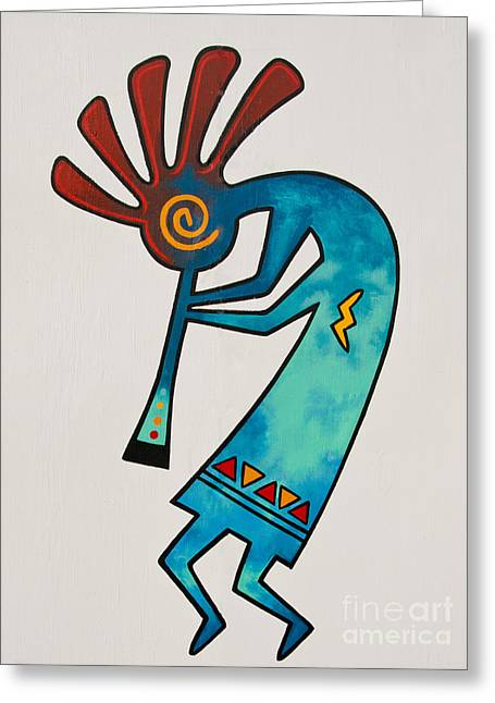 Greeting Card featuring the photograph Indian Dance Two by Mae Wertz
