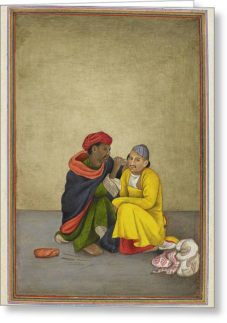 Indian Earpicker Greeting Card by British Library