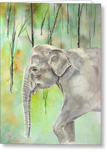 Indian Elephant Greeting Card