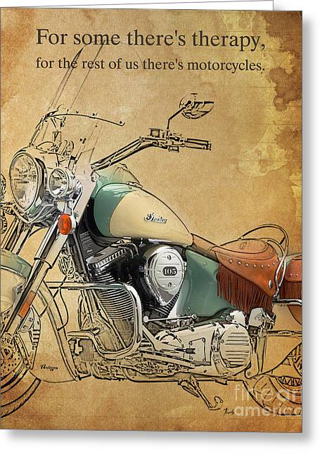 Indian - For Some There S Therapy Greeting Card by Pablo Franchi