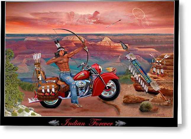 Indian Forever Greeting Card by Glenn Holbrook