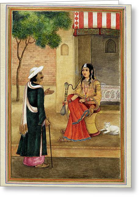 Indian Harlot Greeting Card by British Library