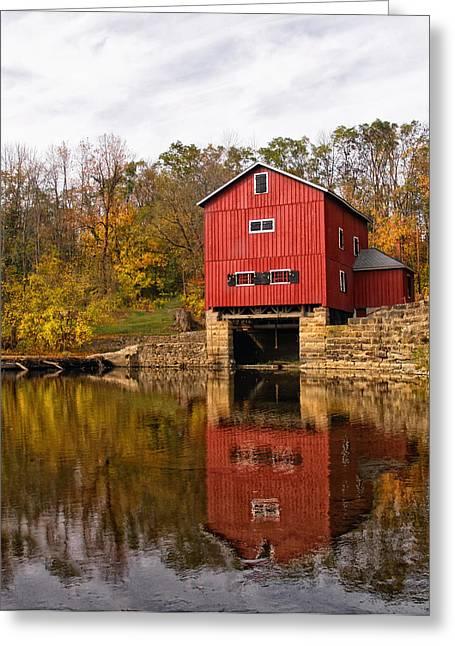 Indian Mill Upper Sandusky Ohio Greeting Card by Brian Mollenkopf