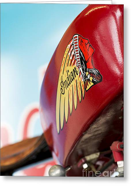Indian Motorcycle Abstract Greeting Card