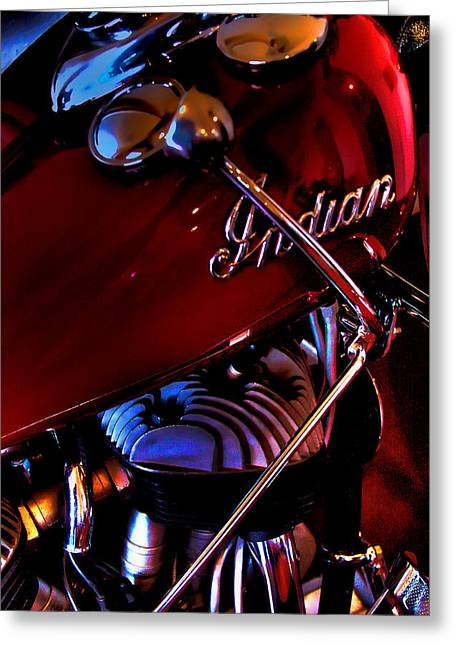 Indian Motorcycle Greeting Card by David Patterson