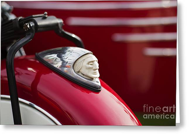 Indian Motorcycle Fender  Greeting Card by Tim Gainey
