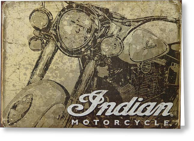 Indian Motorcycle Poster Greeting Card