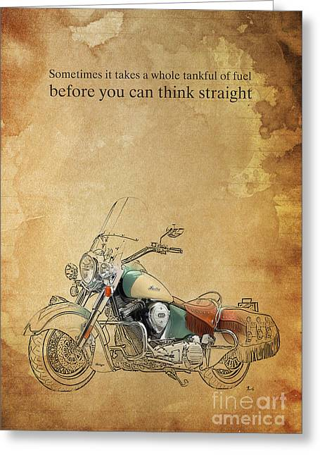 Indian Motorcycle Quote Greeting Card