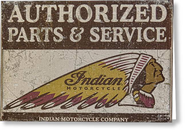 Indian Motorcycle Sign Greeting Card