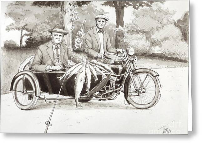 Indian Motorcylce Founders Greeting Card