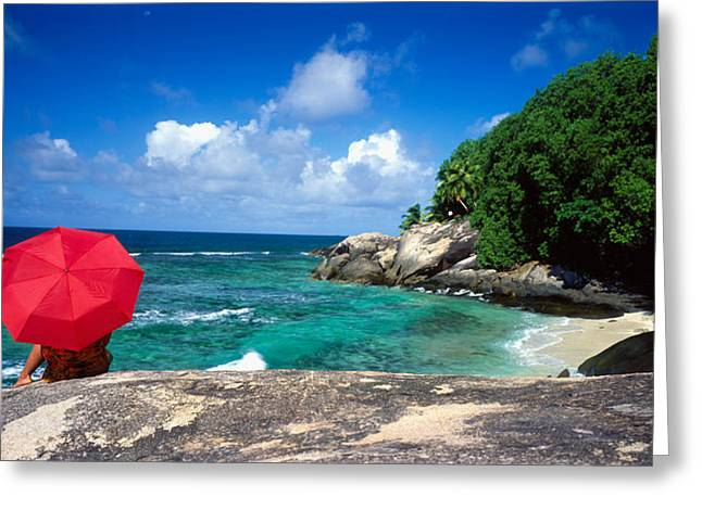 Indian Ocean Moyenne Island Seychelles Greeting Card by Panoramic Images