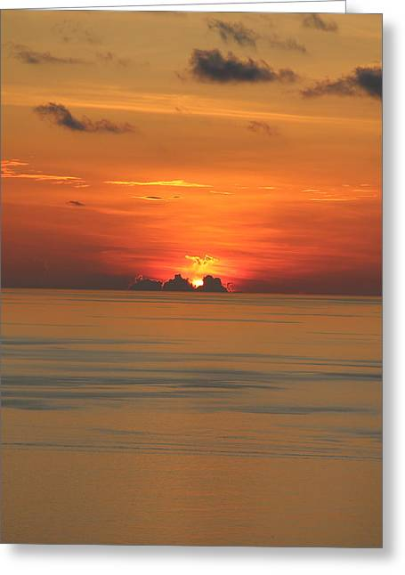 Greeting Card featuring the photograph Indian Ocean Sunset  by Debbie Cundy