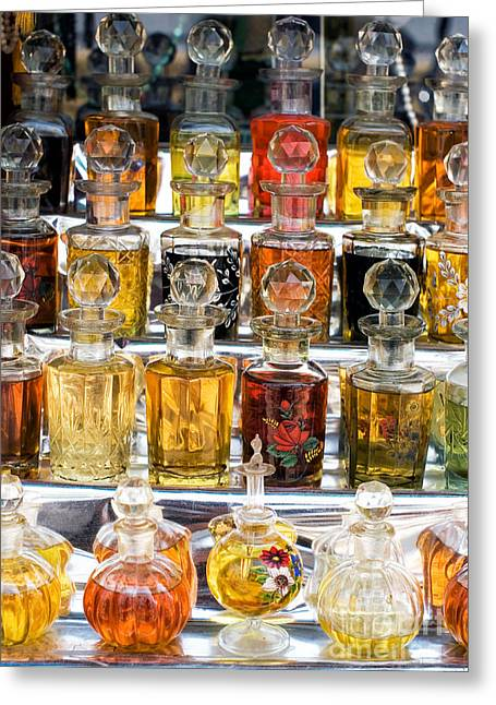 Indian Perfume Bottles Greeting Card by Tim Gainey