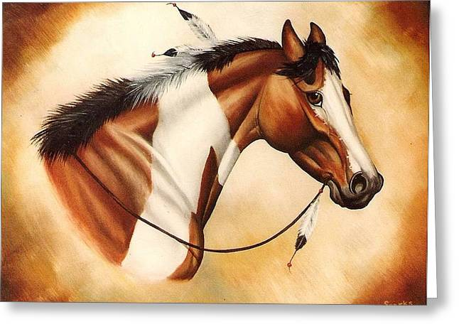 Indian Pony Greeting Card by Kay Sparks